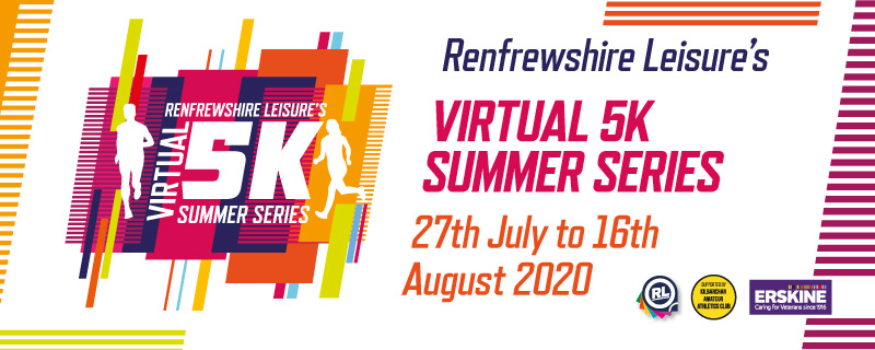 Renfrewshire Leisures Virtual 5k Summer Series Banner Image